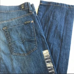 "new 7 for all mankind slimmy jeans, 28"" inseam"